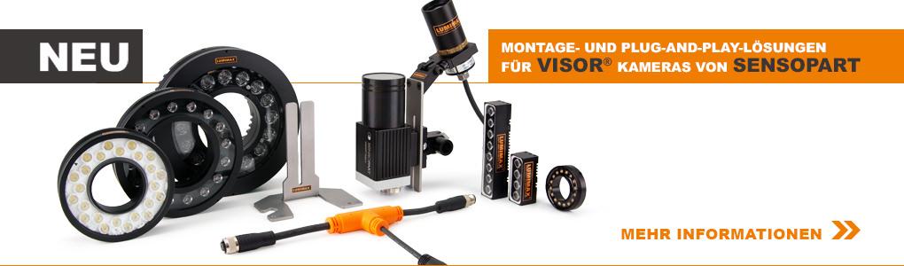 LUMIMAX® Plug-and-Play-Lösungen für VISOR® Kameras von SensoPart
